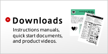 Downloads: Instructions manuals, quick start documents, and product videos.