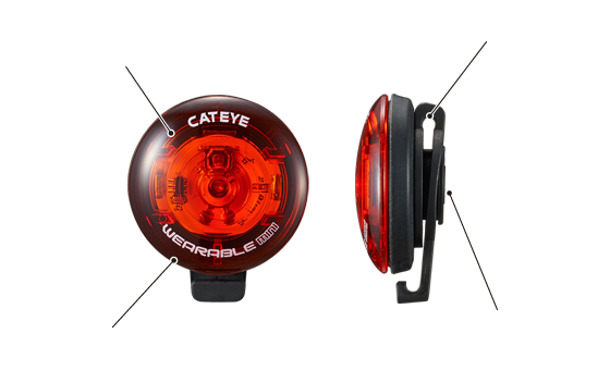 Cateye Wearable Mini Rear Clip On Light Cycling Safety Bike Bicycle Tail Light